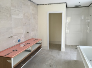 Ensuite in progress.